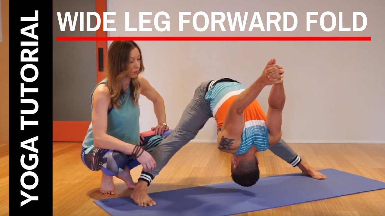 How to do a Wide Leg Forward Fold | Prasarita Padottanasana C